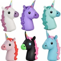 Emoji Cartoon Cute Unicorn Portable External Backup Battery Charger