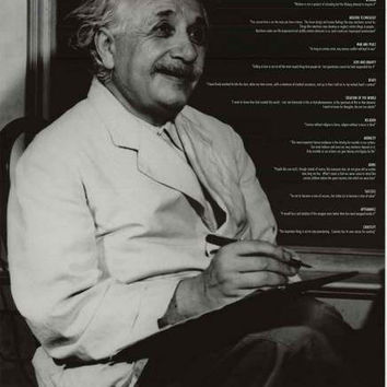 Albert Einstein 15 Wisdom Quotes Poster 24x36