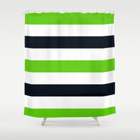 Stripe 8 Shower Curtain by KrashDesignCo.