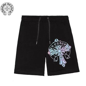 Chrome Hearts New fashion reflective couple high quality shorts Black
