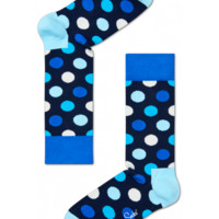 Big dots on blue cool socks for fun people at HappySocks.com