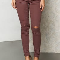 Cocoa Drawstring Knee Slit Jeans
