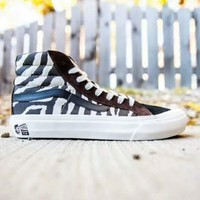 Vans Vault x Taka Hayashi co-branded street fashion zebra skate shoes