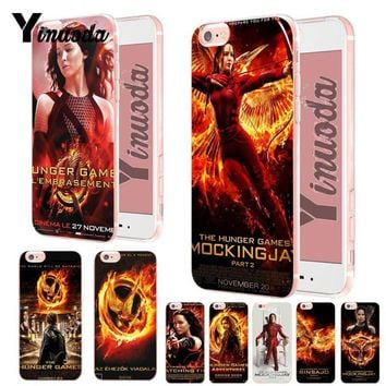 Yinuoda The Hunger Games movie Diy Luxury High-end Protector phone Case for iPhone 8 7 6 6S Plus X XS XR XsMax 5 5S SE Cover