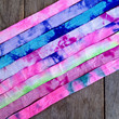 """8 Yards of 5/8"""" Tie Dye Fold Over Elastic - 1 Yard of Each Color"""