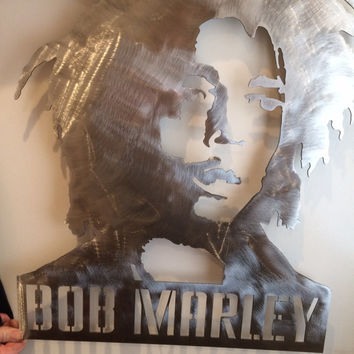 Bob Marley metal wall art 24""