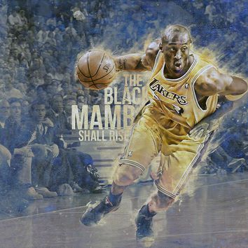 kobe bryant basketball nba poster 9 14  number 1