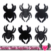 Jesse James Buttons 6 pc SPIDERS Halloween Buttons
