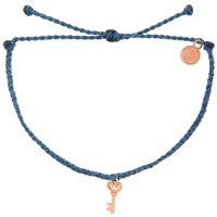 Rose Gold Key Colombia Blue