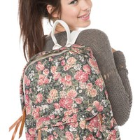 Brandy Melville Floral Backpack