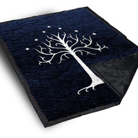 iOffer: The White Tree of Gondor on Blanket for sale