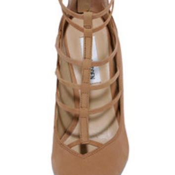 Steve Madden Prazed Sand Nubuck Leather Caged Pumps