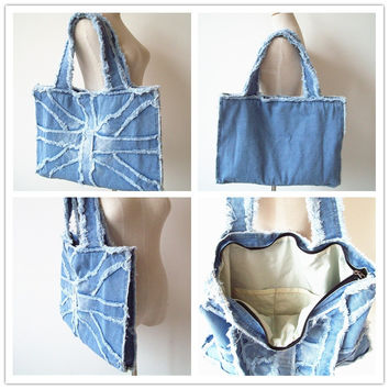 The Artist's Blue Denim Bag