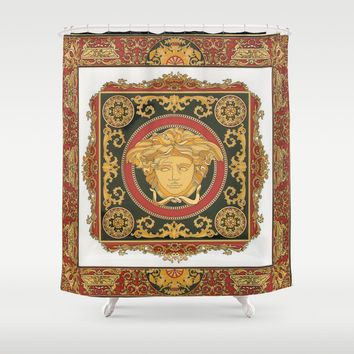 Classic Versace Shower Curtain by Goldflakes
