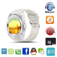 Multifunction Bluetooth Digital Smart Watch For Men Women V8 With SIM TF Card Sync HD IPS Screen