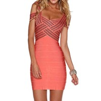 Sexy Sweetheart Neckline Hollow Out Bodycon Bandage Dress For Women | Kitty's Clawset