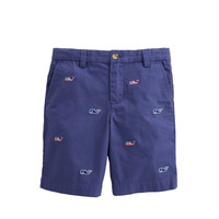 Boys Flag Whale Embroidered Breaker Shorts