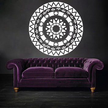I173 Wall Decal Vinyl Sticker Art Decor Design  mandala circle pattern repeat indium kaleidoscope flowers classics religion om