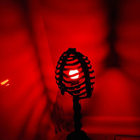 Rib Cage Accent Lamp - Halloween Lighting Decor - Shadow Caster by Gloom Matter