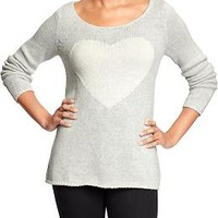 Women's Heart-Graphic Sweaters