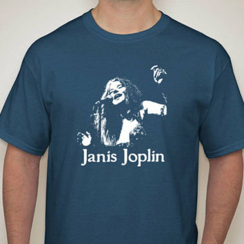 JANIS JOPLIN Of Big Brother And The Holding Company Tee / 60's San Francisco Rock N Roll Music Icon and Blues Singer t-shirt