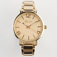 Geneva 3 Number Boyfriend Watch Gold One Size For Women 23914462101