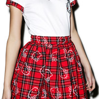 Japan L.A. Hello Kitty School Girl Skirt Red