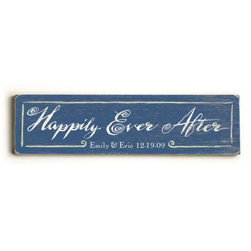 Personalized Happily Ever After Wood Sign