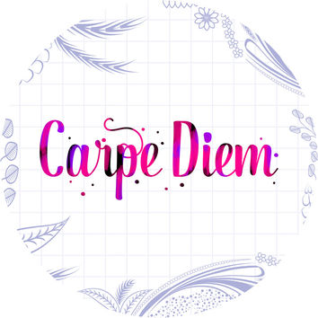Carpe Diem II Circle Wall Decal