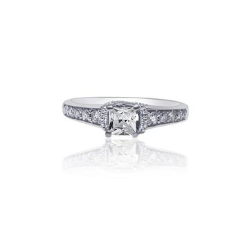 Luxinelle 0.40 Princess Cut Diamond Vintage Inspired Setting Engagement Ring  by Luxinelle® Jewelry