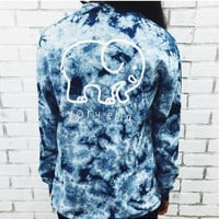 Elephant and Letter Print Tie-Dyed Long Sleeve T-Shirt Free Shipping !