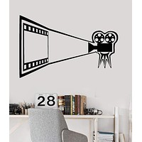 Vinyl Wall Decal Cinema Movie Camera Theater Film Room Stickers Unique Gift (ig3219)