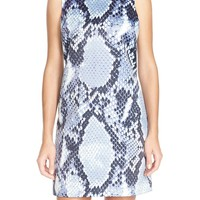 CeCe by Cynthia Steffe 'Nadia' Python Print Shift Dress | Nordstrom