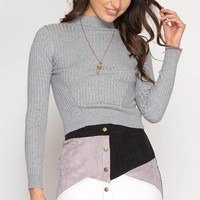 Corduroy Button Up Skirt