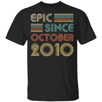 Epic Since October 2010 Vintage 10th Birthday Gifts Youth