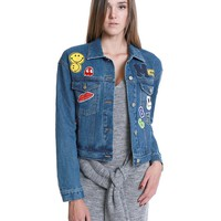 Happy Game Denim Jacket - Blue