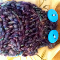Variegated Mug Cozy in Purple, Blue, and Green