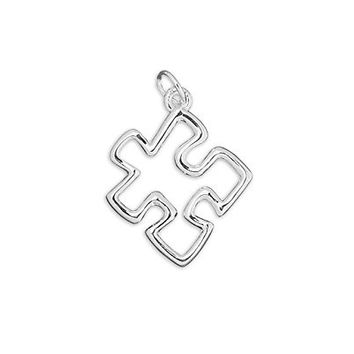 Autism ASD Awareness Puzzle Jigsaw with Necklace