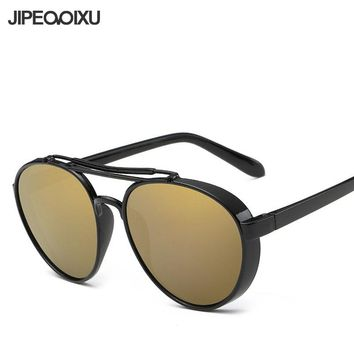 JIPEMIXU Large Round Sunglasses Women Men Retro Trend HD Mirror Sun Glasses Brand Designer Driving Eyewear UV400