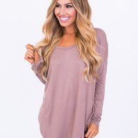 Mocha Scoop Neck Tunic