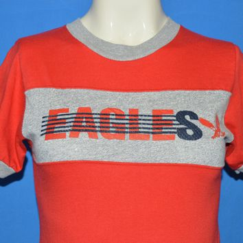 80s Eagles Red Ringer Jersey t-shirt Extra Small