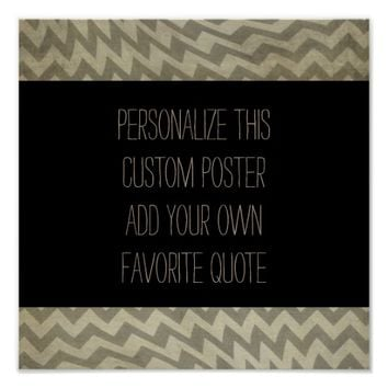 custom poster add you own quote gray and black