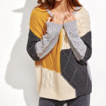 New product explosion loose plaid sweater female