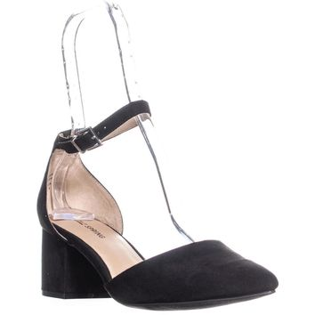 Call It Spring Aiven Block-Heel Ankle-Strap Pumps, Black, 7 US / 37.5 EU