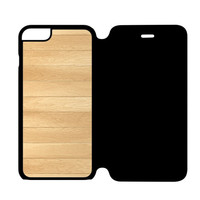 Wooden Panel iPhone 6 Flip Case Cover