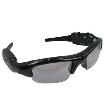 Designer Black Photo/ Video Recording Sunglasses - what you see is what you can videotape