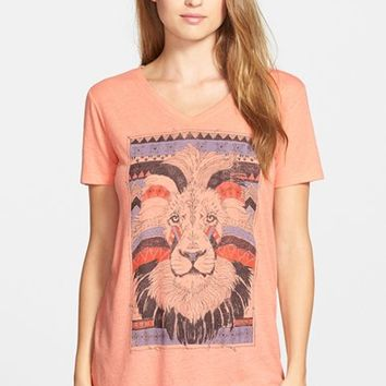 Women's Lucky Brand Lion Graphic Tee,