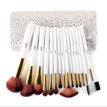 15Pcs Makeup Cosmetic Foundation Powder Makeup Brushes