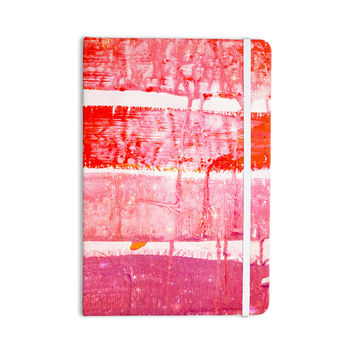 "Iris Lehnhardt ""Coral Paint Wash"" Pink Red Everything Notebook"