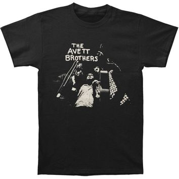 Avett Brothers Men's  Group Photo Slim Fit T-shirt Black